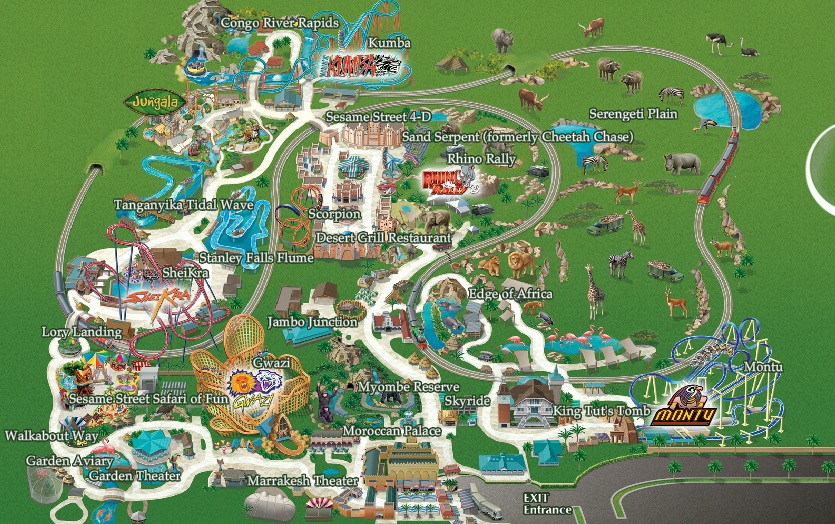 busch gardens map florida – Travel Around The World – Vacation Reviews