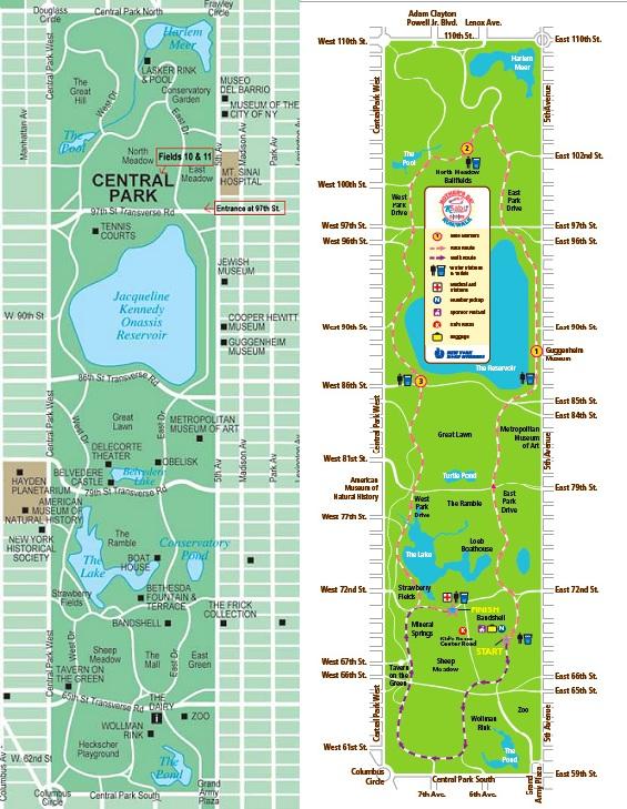 Mapa de Central Park