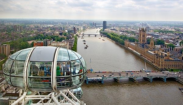 london eye skyline. London skyline.