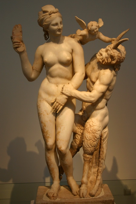 Think, nymph and satyr you