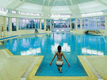 woman in wellness pool