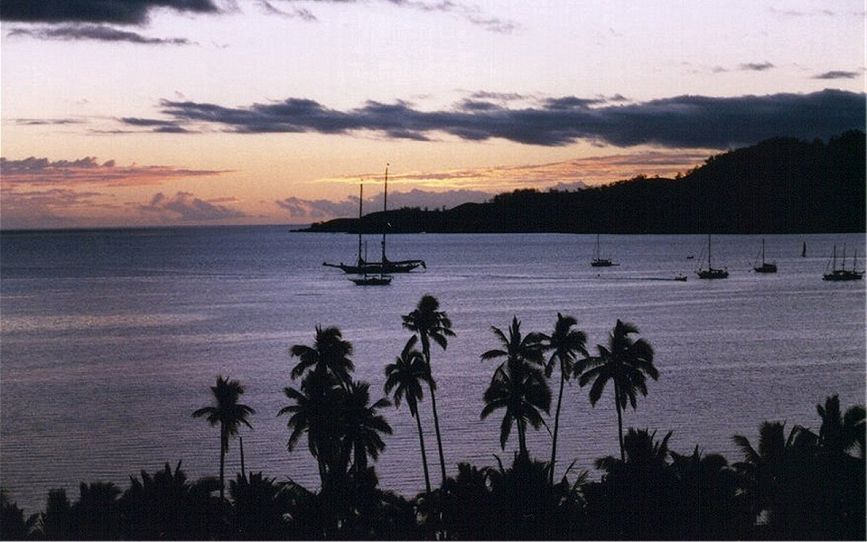 yacthing and boating Fiji Islands sunset wallpaper - .................best Island................