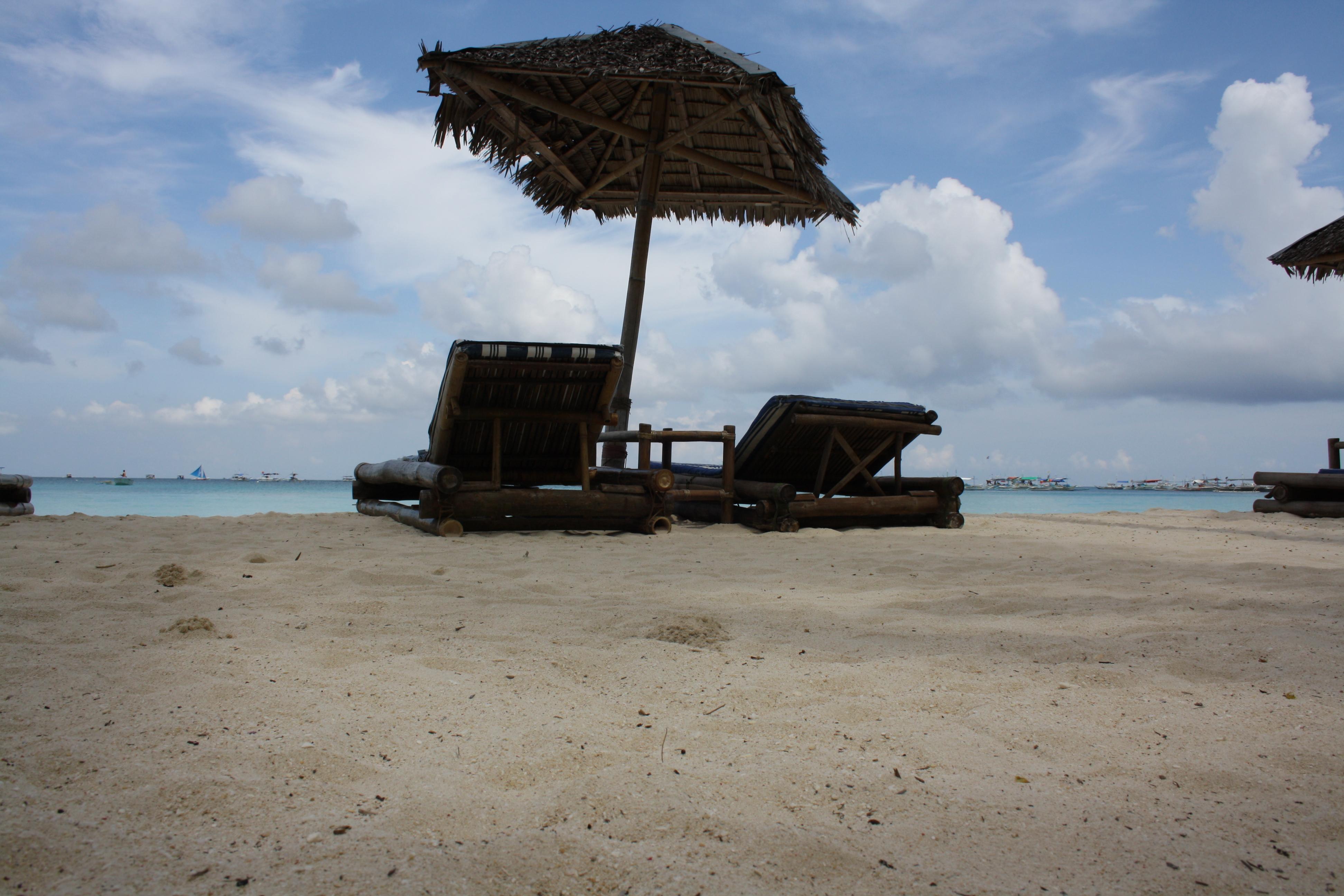 Relax on Boracay beach, Philippines