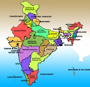 Detailed large size map of india for travelers