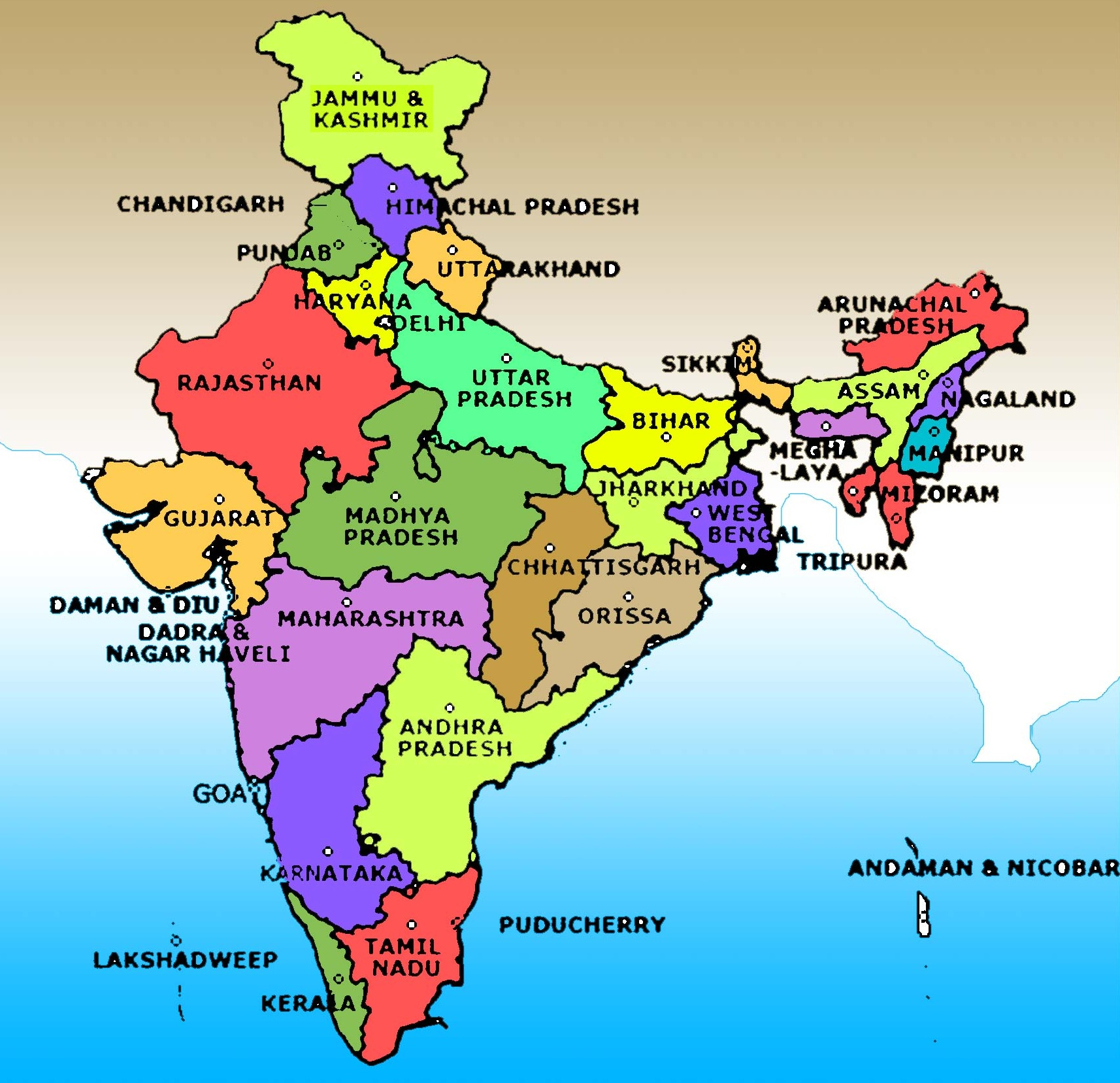 full size india map all state name 28 Beautiful India Map Full Size full size india map all state name