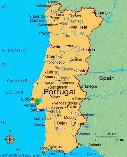 Map Of Portugal – Travel Around The World – Vacation Reviews