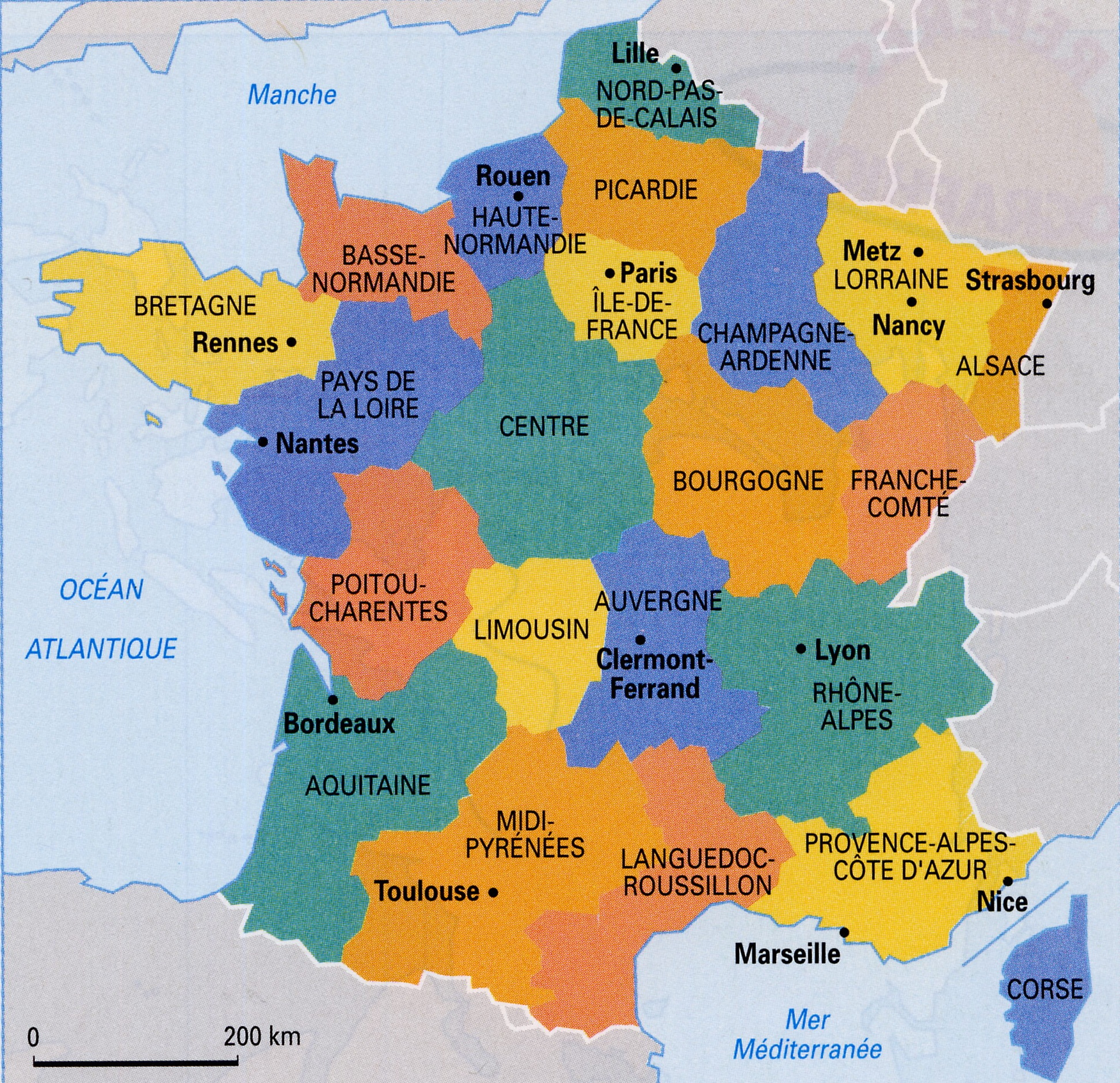 Largest Most Detailed Map of France and The Flag Travel Around The