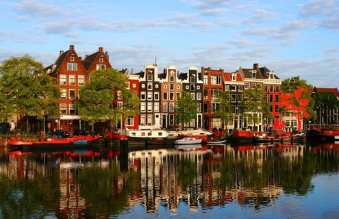 Amsterdam Colorful Townhouses Netherlands