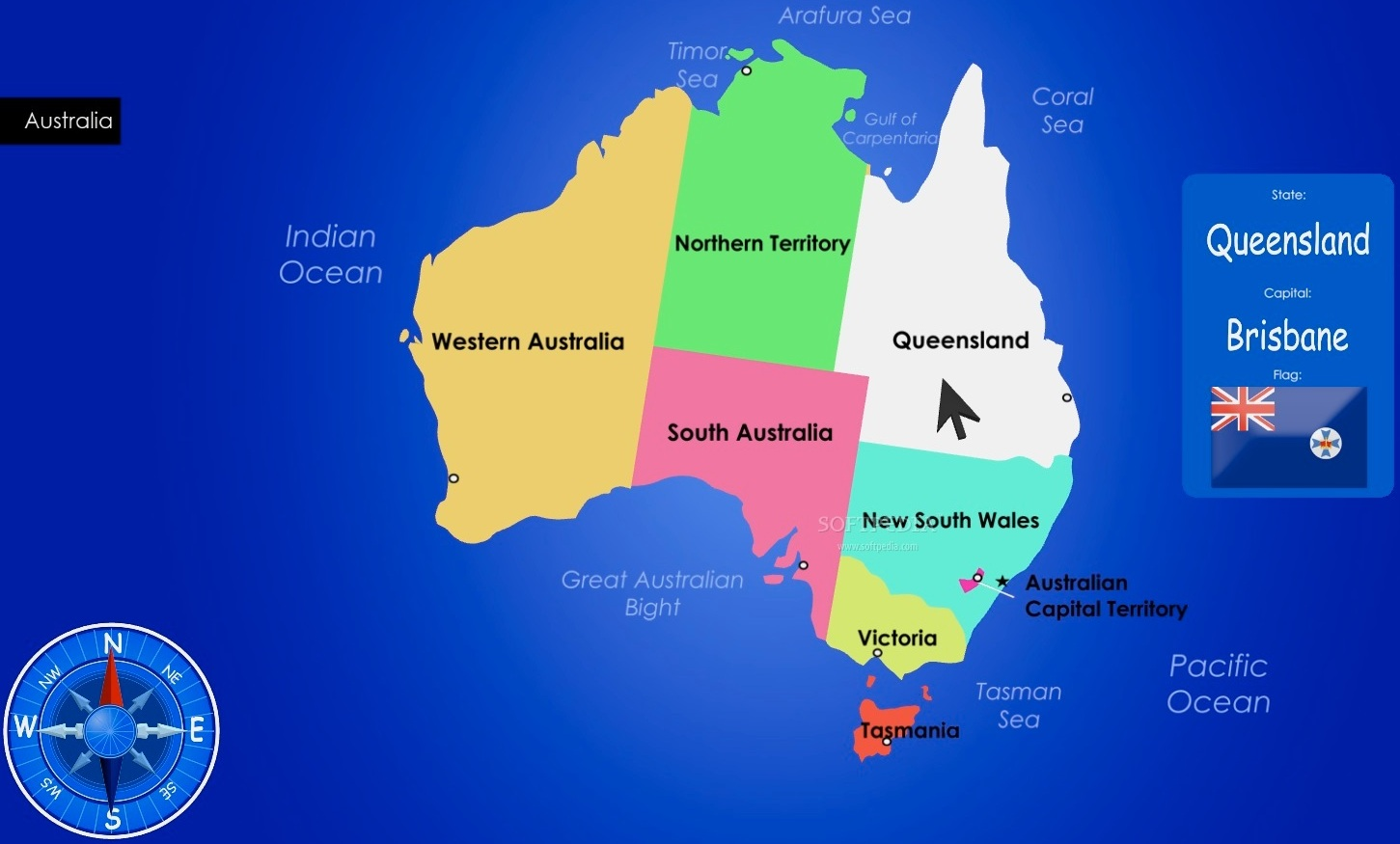 LargestMost Detailed Australia Map and Flag Travel Around The – Map of the States of Australia