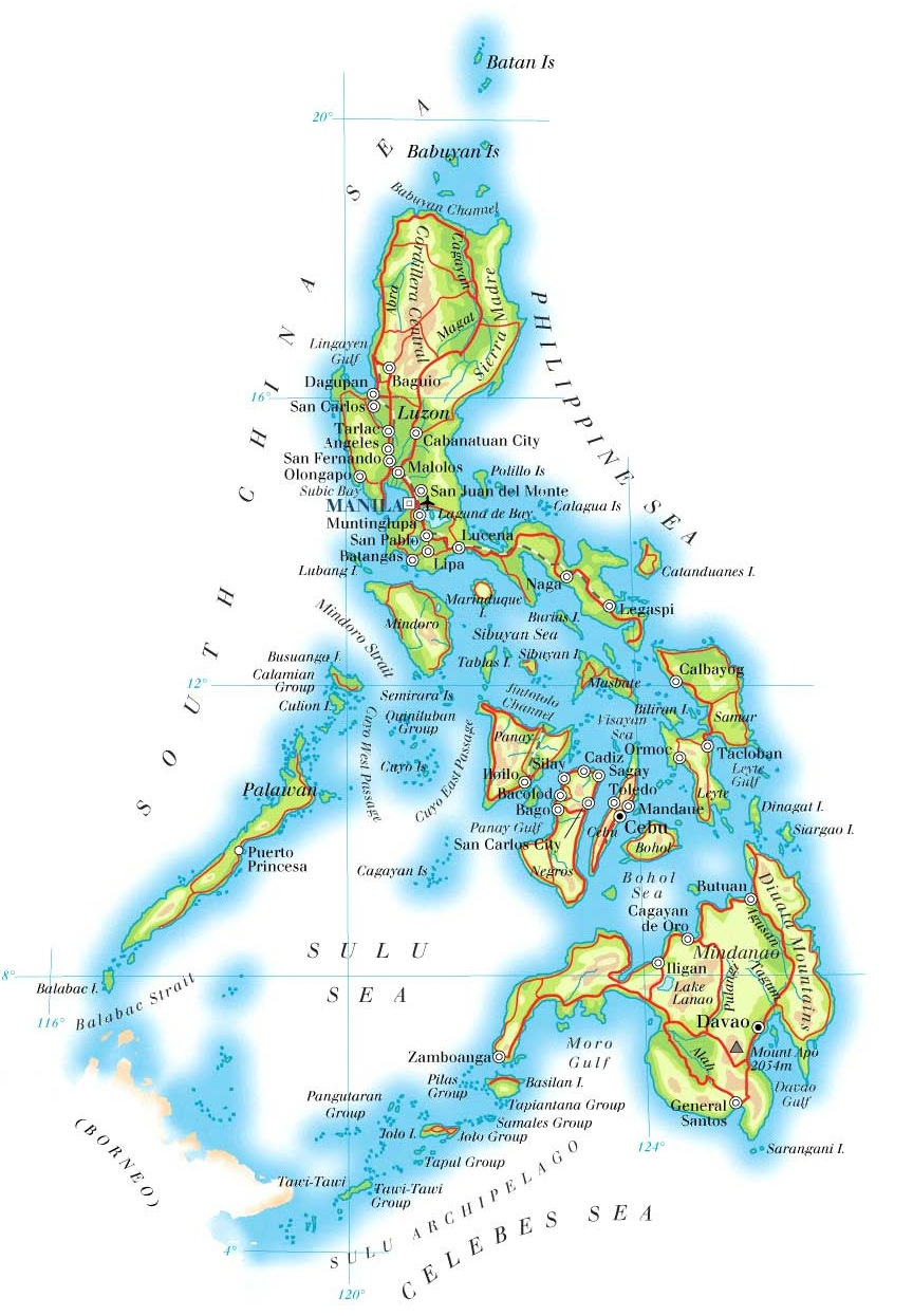 Large size and detailed Philippines Map Travel Around The World