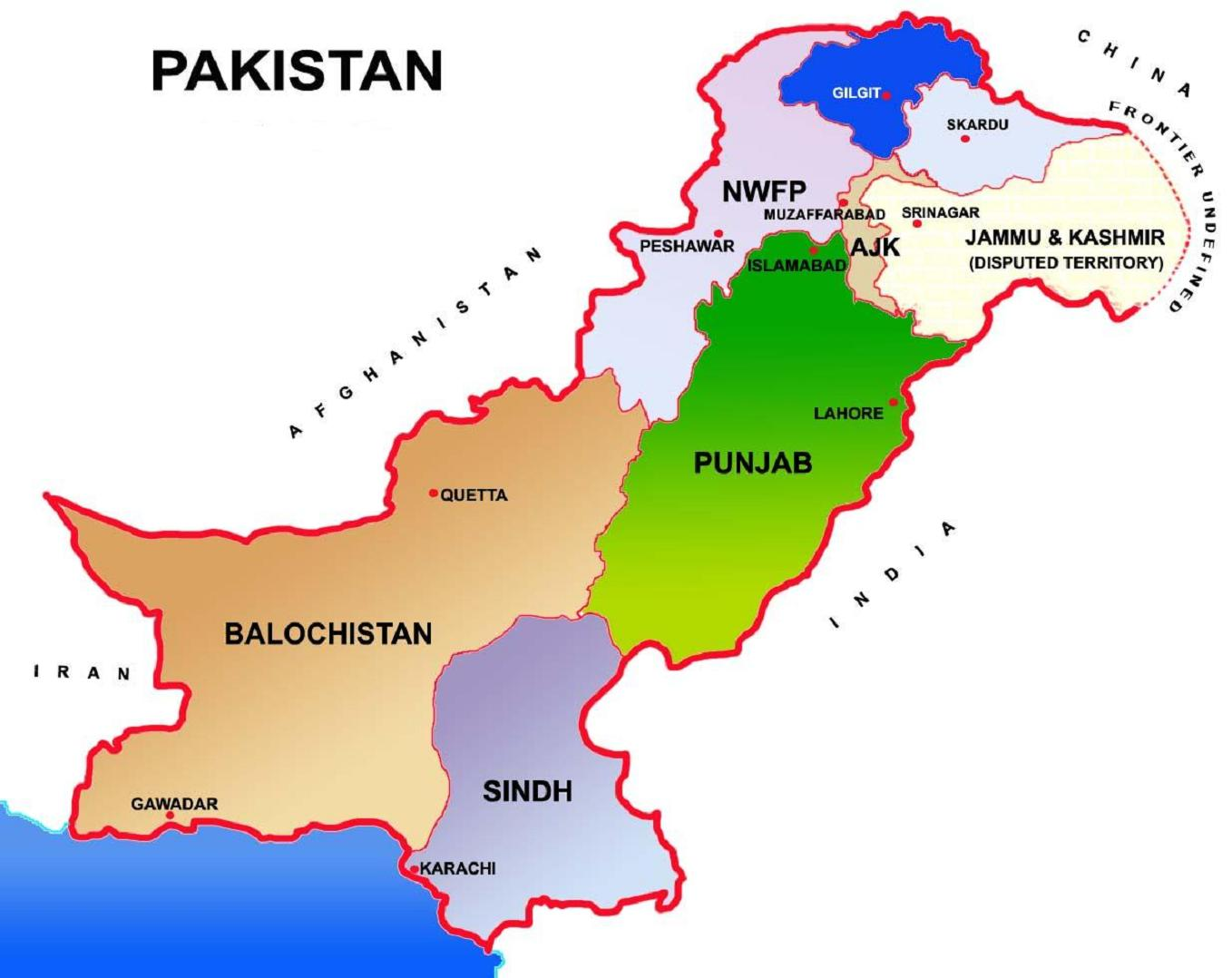 Write about the regional languages of pakistans provinces