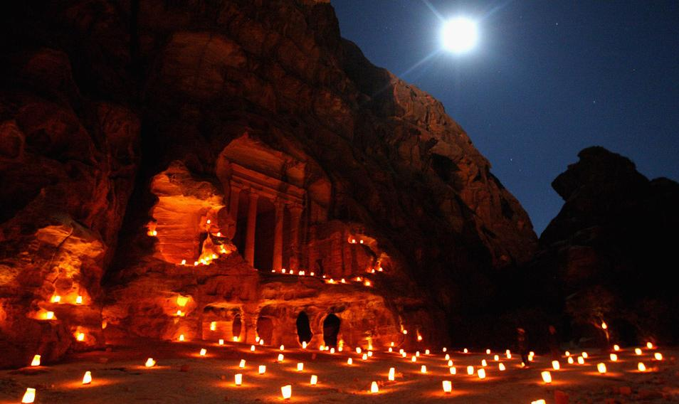 Petra Under Moonlight