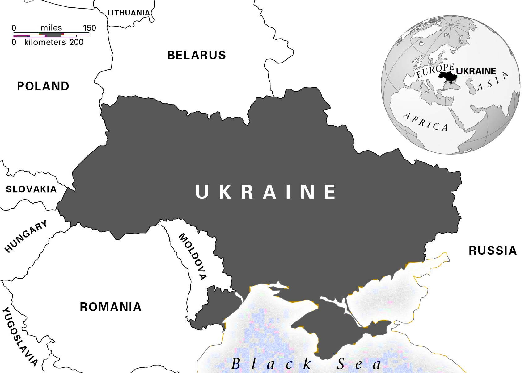 Ukraine large size blank map showing where ukraine is on the world ukraine large size blank map showing where ukraine is on the world map gumiabroncs Image collections