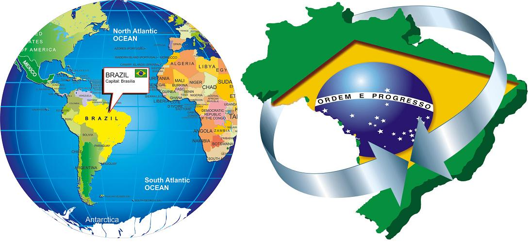 Largest most detailed map and flag of brazil travel around the for gumiabroncs Images