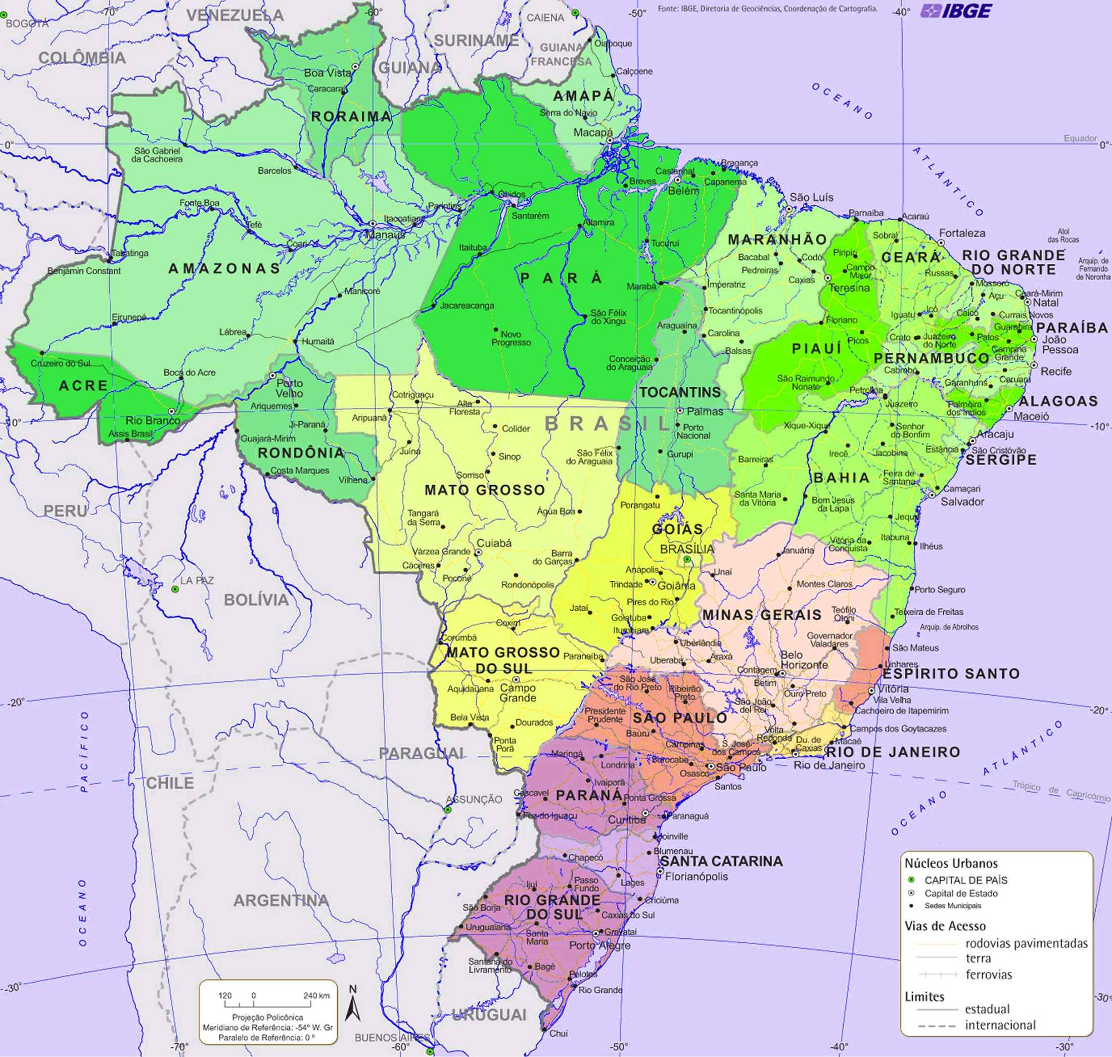 Largest amp; Most Detailed Map and Flag of Brazil – Travel Around The
