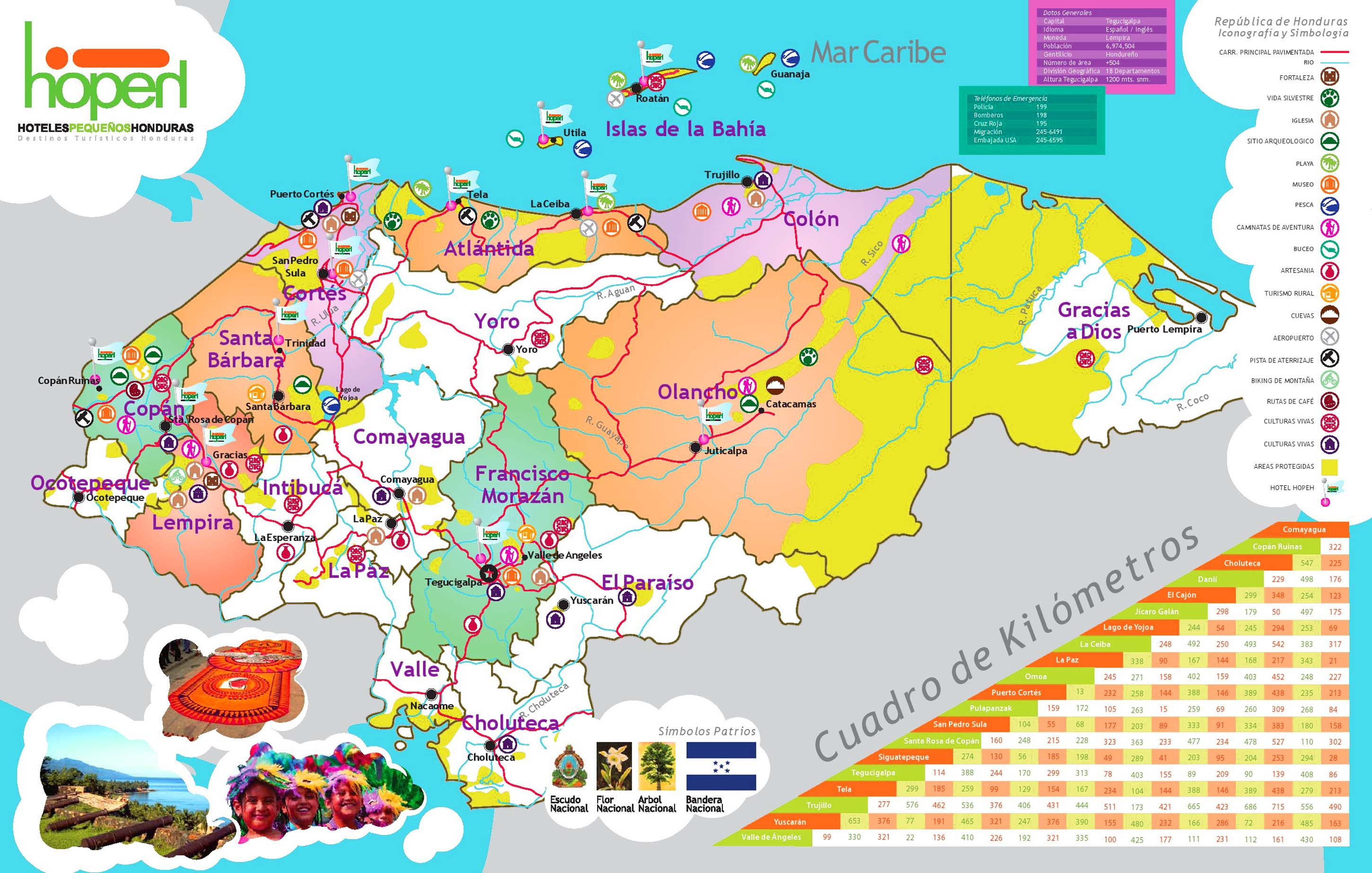 Most Detailed and Largest Honduras Map and Flag Travel Around – Tourist Attractions Map In Jamaica