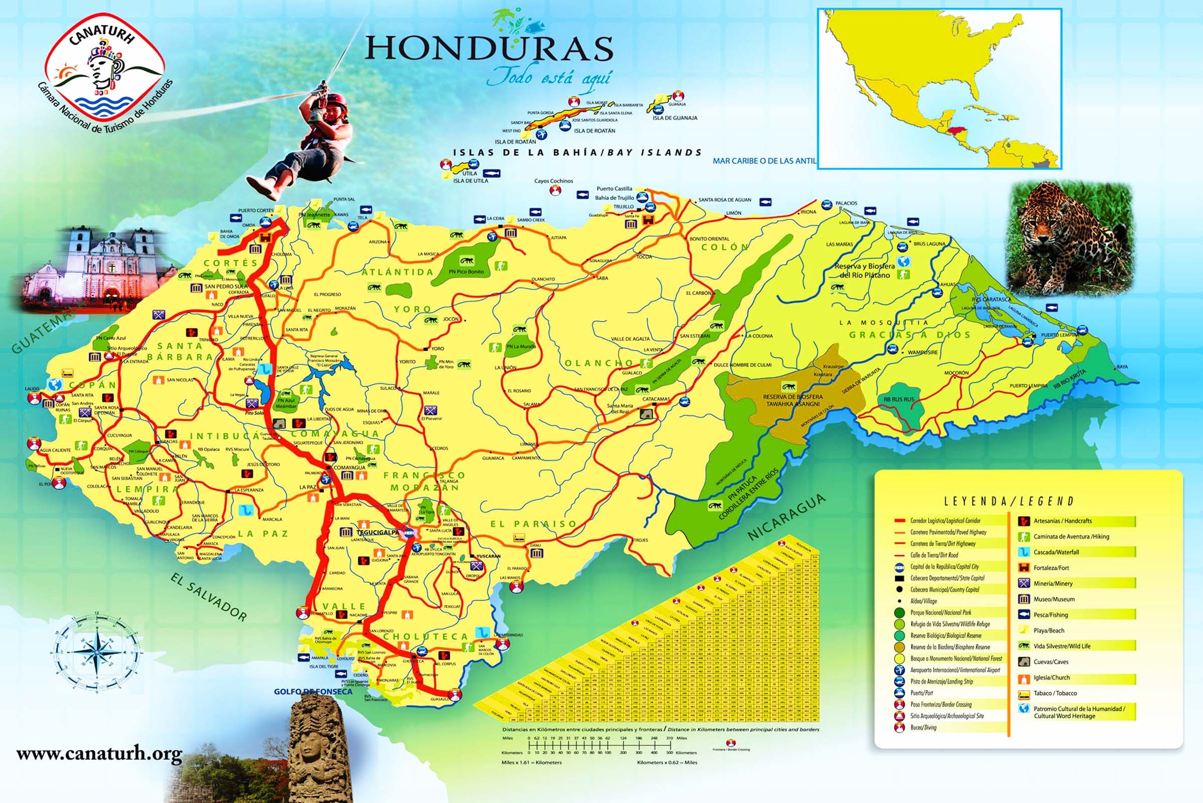 Most Detailed And Largest Honduras Map And Flag Travel Around - Hondurus map
