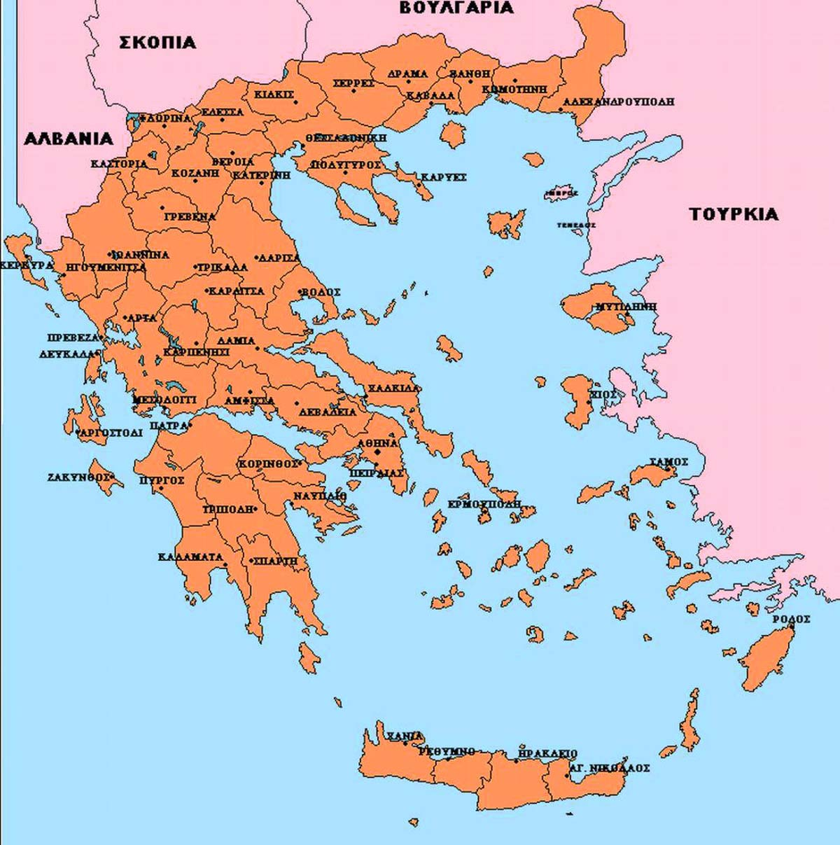 (Detailed Greece Map ...