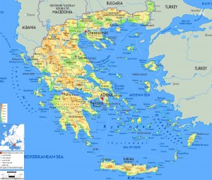 detailed greece physical map – Travel Around The World – Vacation ...