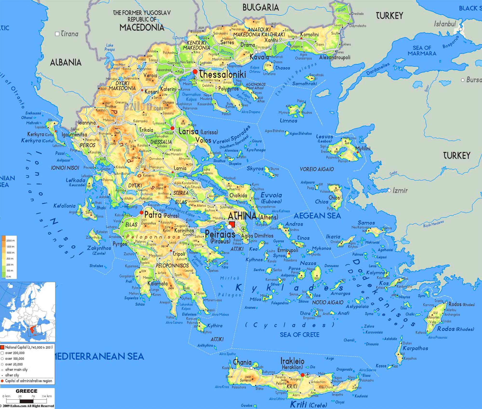 Maps Of Greece And Islands