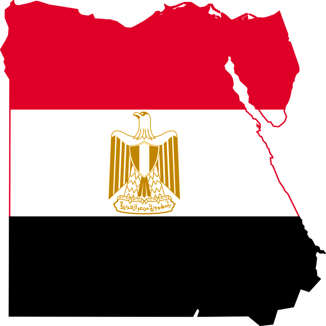 Large Size Egyptian Flag And Map For Travelers Travel Around The - Map of egypt only