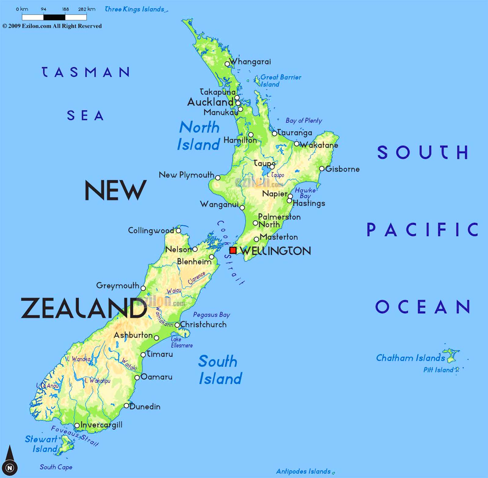 New Zealand Hildebrand Travel Map Download PDF – New Zealand Travel Map