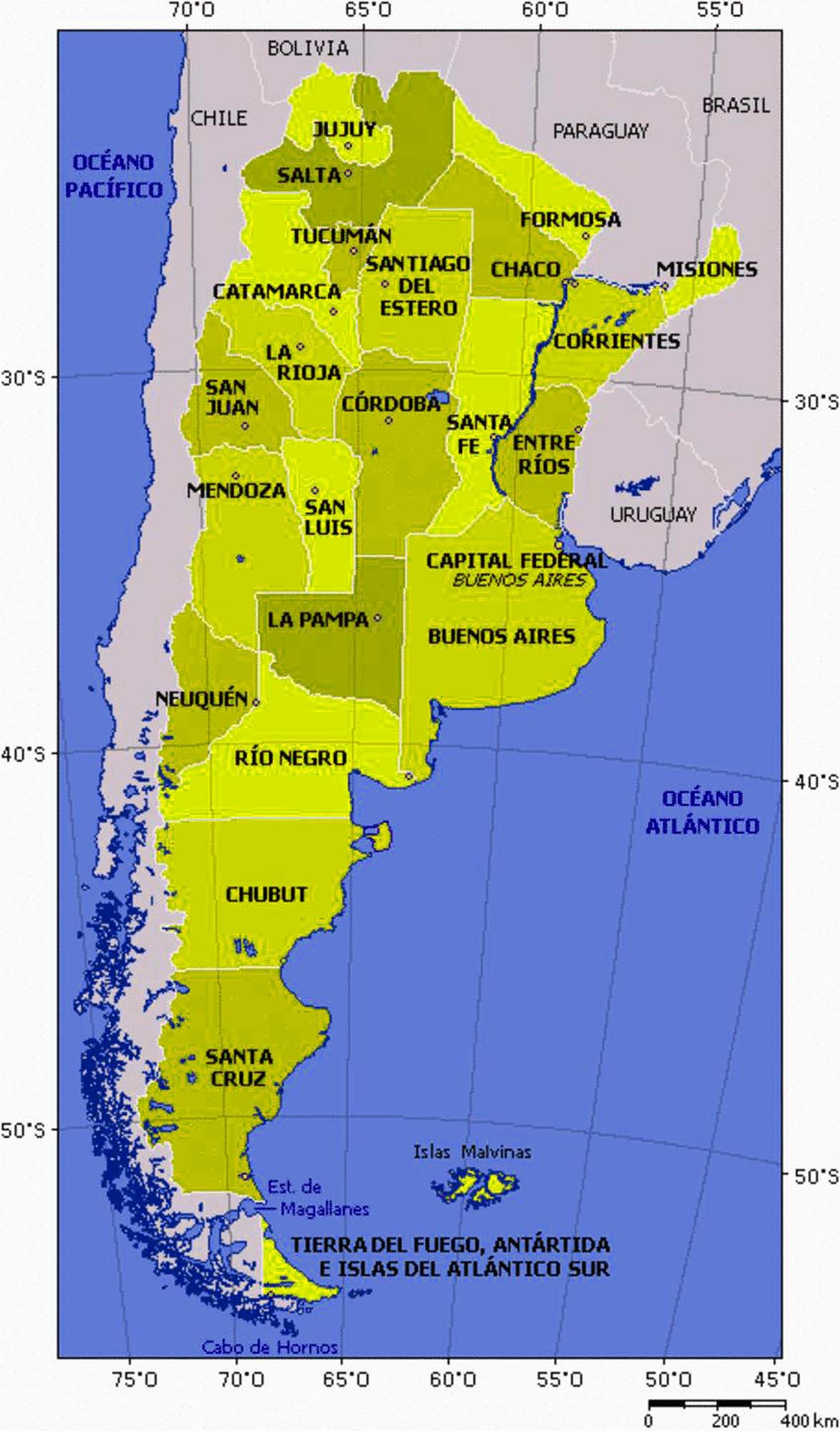 Large Size Detailed Argentina Political Map Travel Around The - Argentina map detailed
