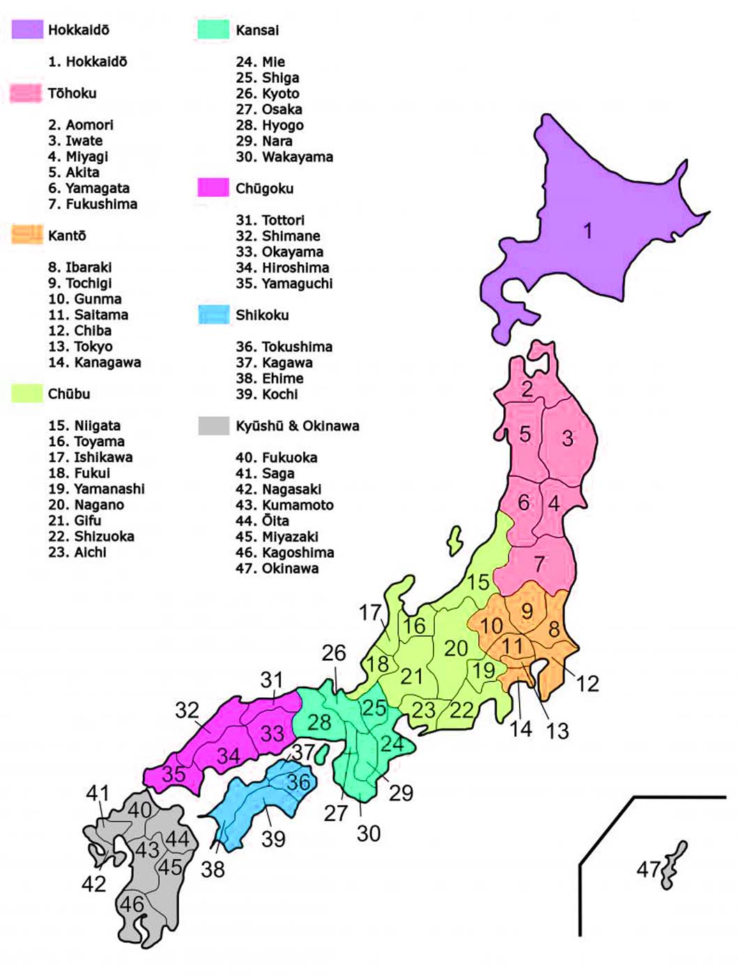 Map Of Japan Regions And Cities Travel Around The World - Japan map political
