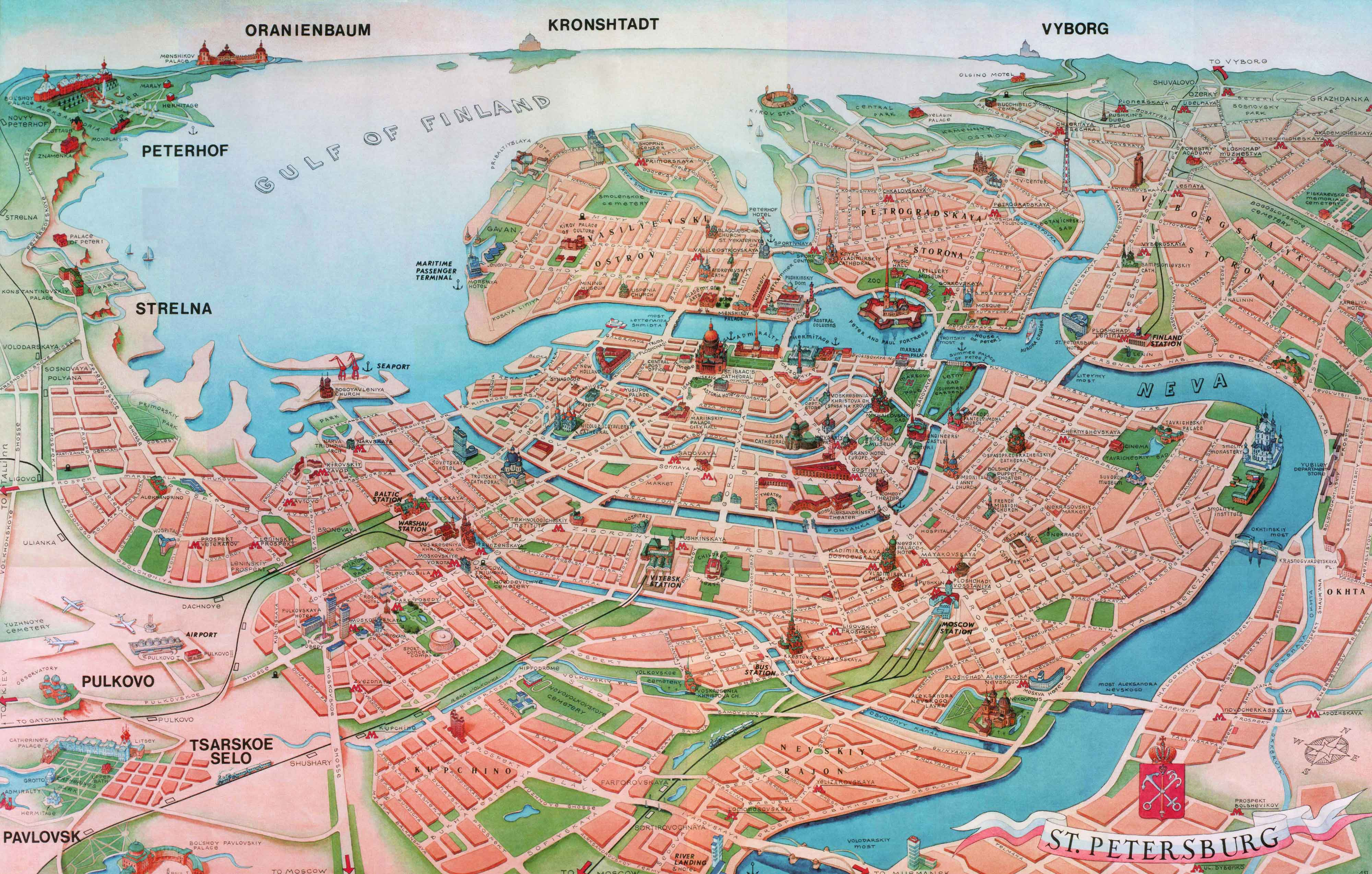 st petersburg tourist attractions map Travel Around The World – Map Of Barcelona Tourist Attractions