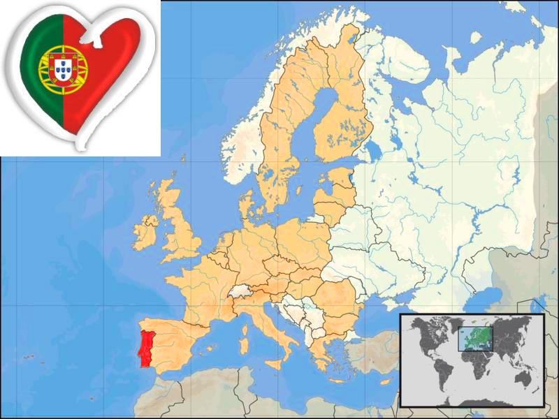 Detailed Big Size Portugal Map And Flag Travel Around The World - Portugal on map