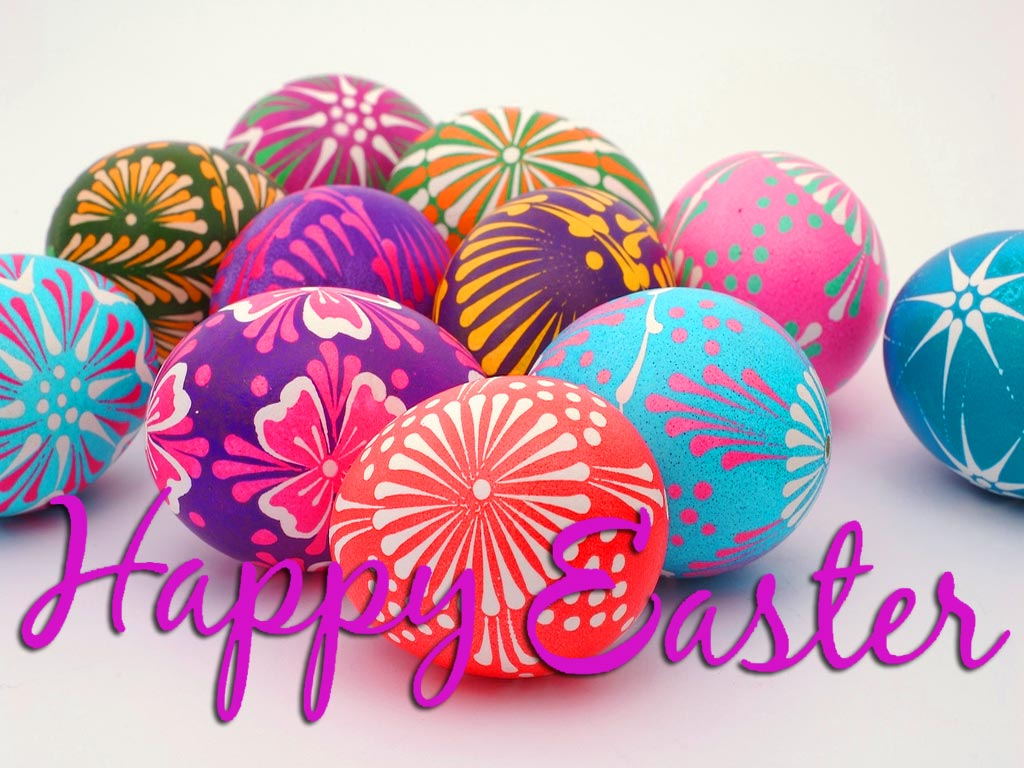 Beautiful Easter Eggs Greeting Card Travel Around The World