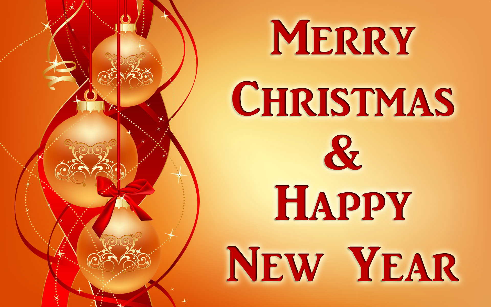 happy christmas and new year card
