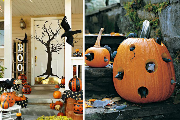 Diy halloween home decoration ideas halloween outdoor for Halloween home decorations