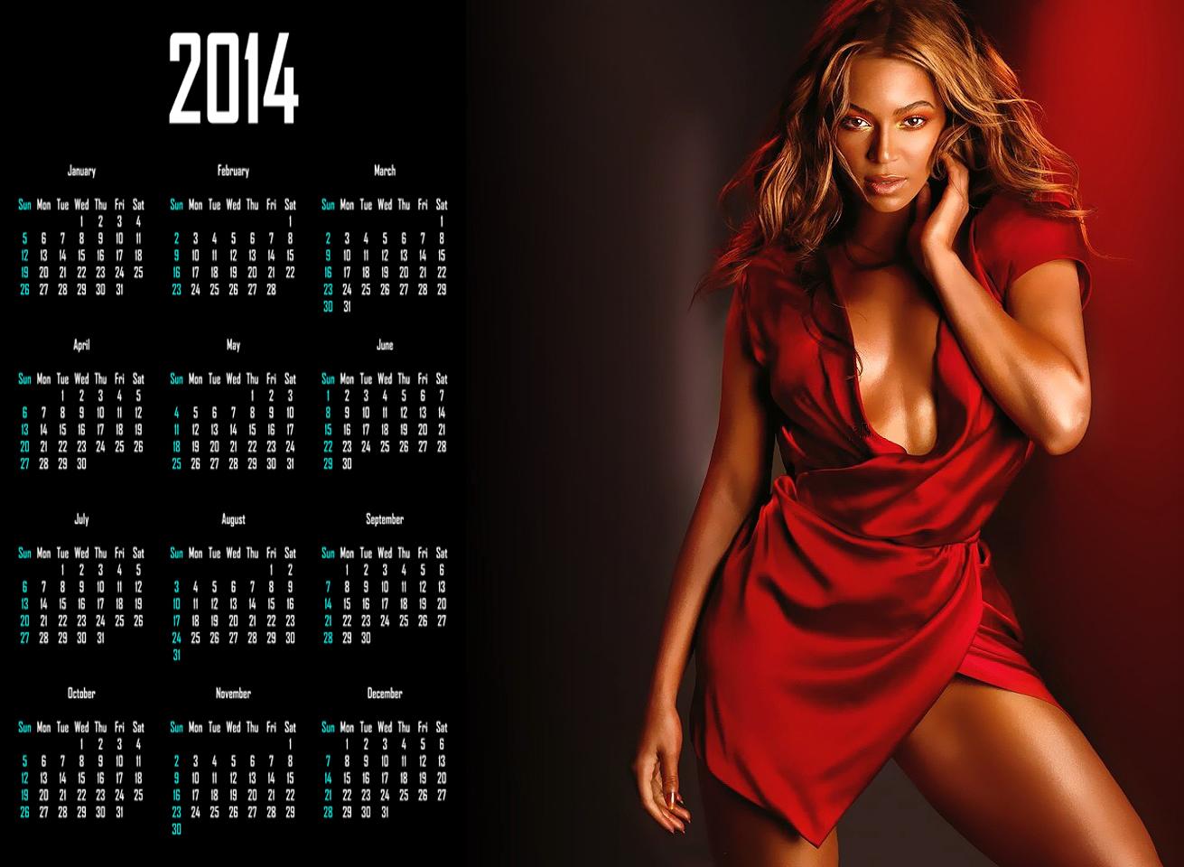 hot women 2014 calendar
