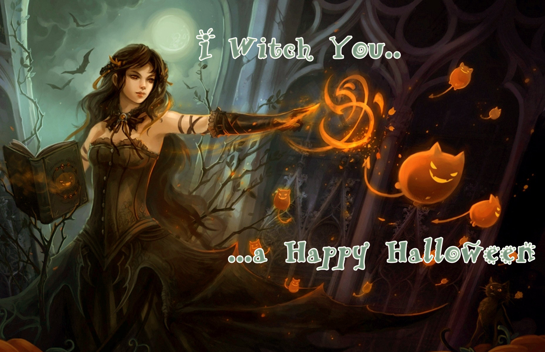 hot girl sexy halloween wallpaper ecard