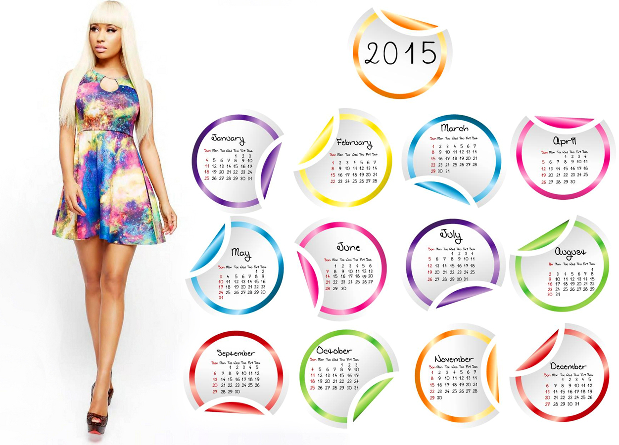 Nicki minaj hot walking 2015 calendar