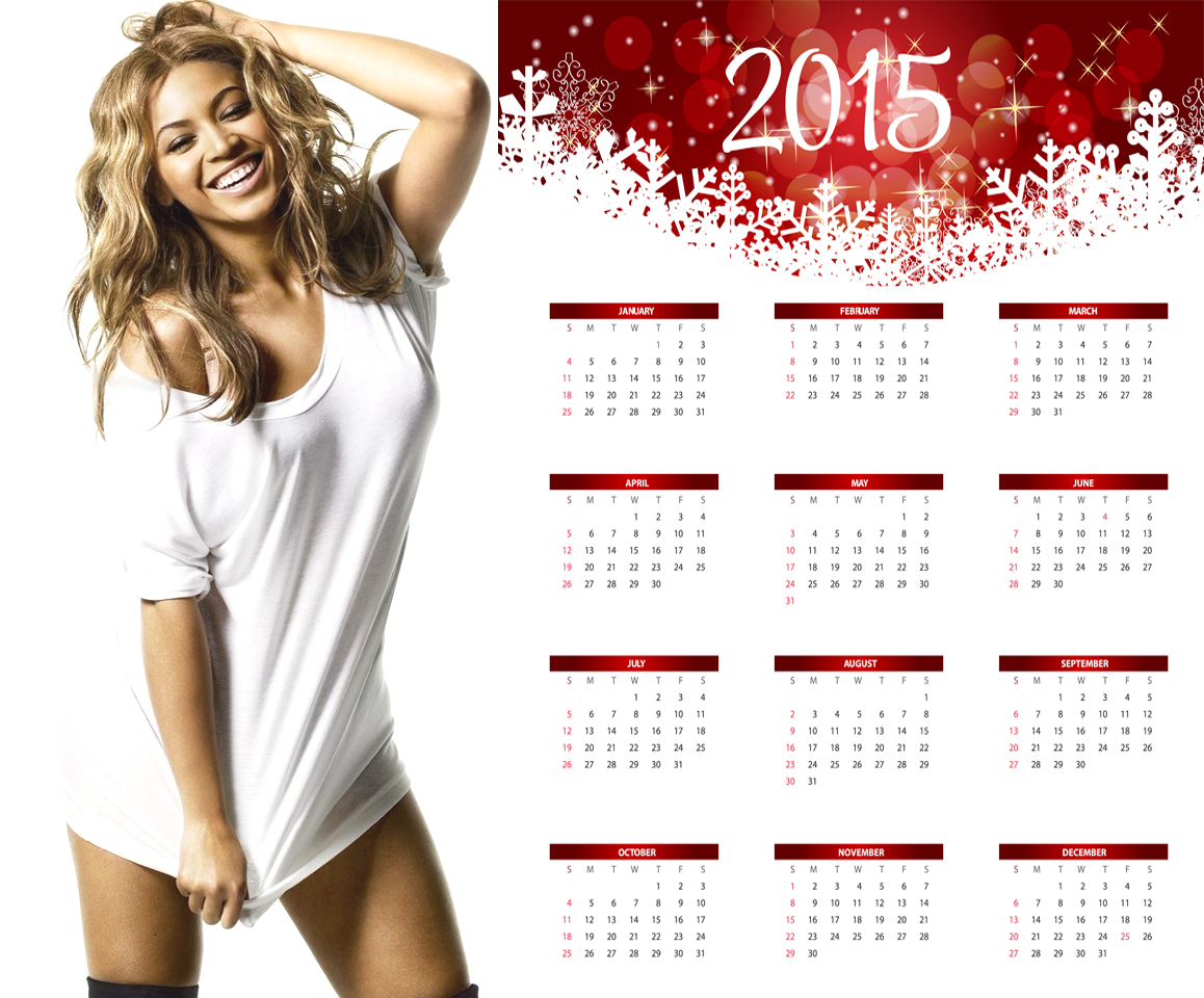 beyonce hot nightie wallpaper calendar 2015