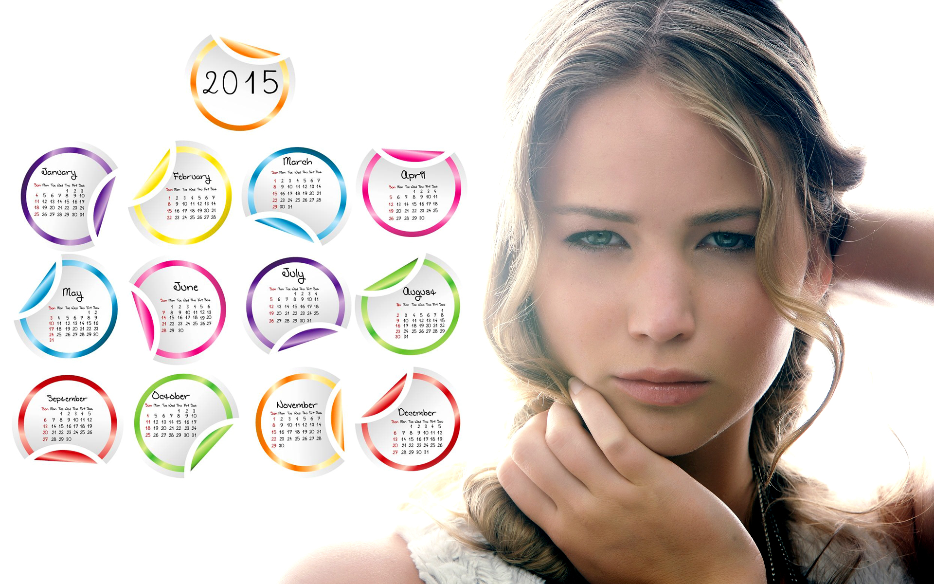 jennifer lawrence katniss beautiful 2015 calendar