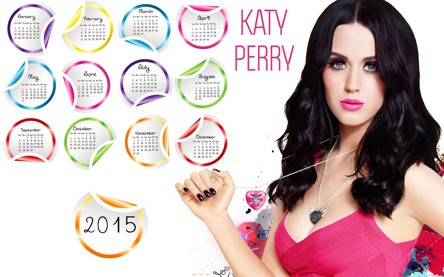 katy perry long hair wallpaper 2015 calendar