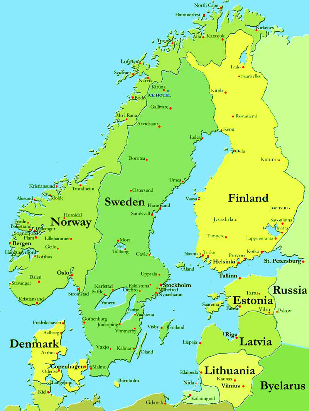 Of Map Scandinavia Iberian Peninsula Map Of Germany Germanic - Map of scandinavia
