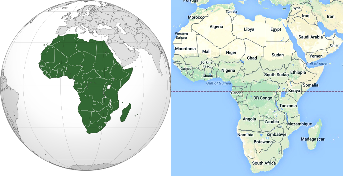 Maps of African Continent, Countries, Capitals and Flags – Travel ...