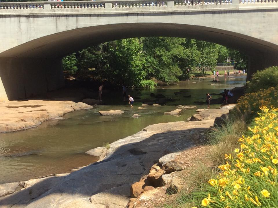 bridge falls park on the reedy greenville