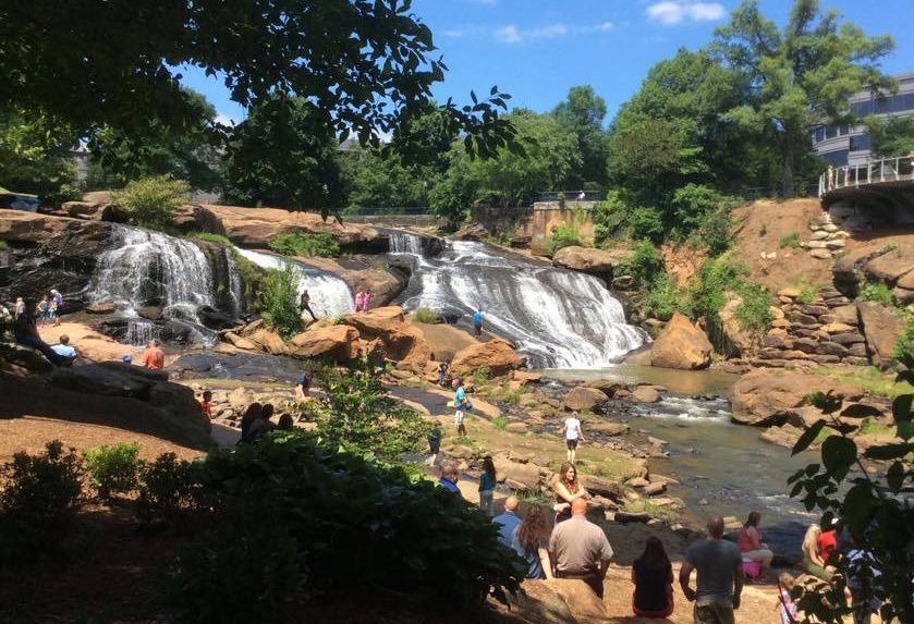 Falls Park On Reedy; Greenville Main Street Attractions, South Carolina