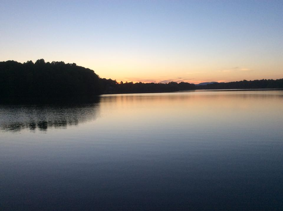 sunset colors on lake cooley
