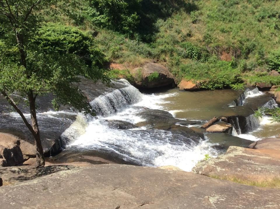 waterfalls park on the reedy greenville