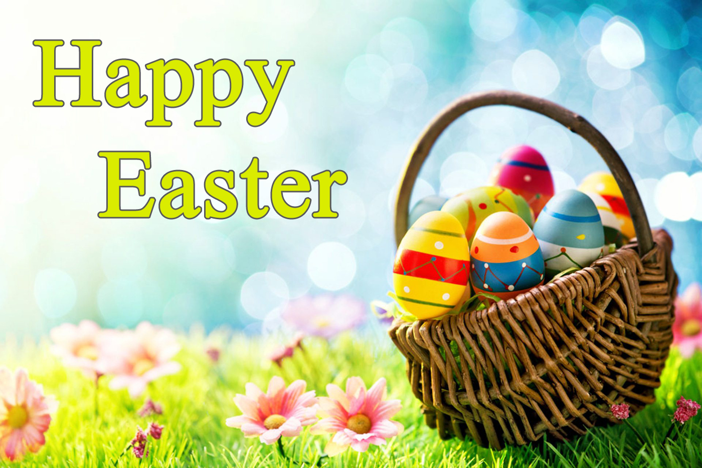 easter basket wallpaper e-card greetings