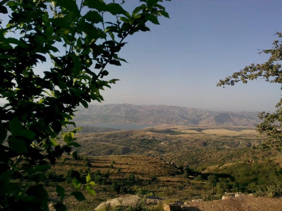 view of pertek from harput district of elazig province