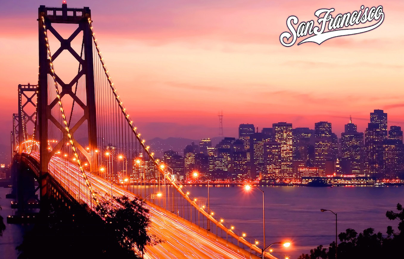 golden gate bridge san francisco night skyline wallpaper