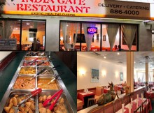 india gate restaurant inside buffet food